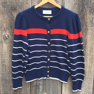 VTG Vivanti Petites Nautical Cardigan Sweater